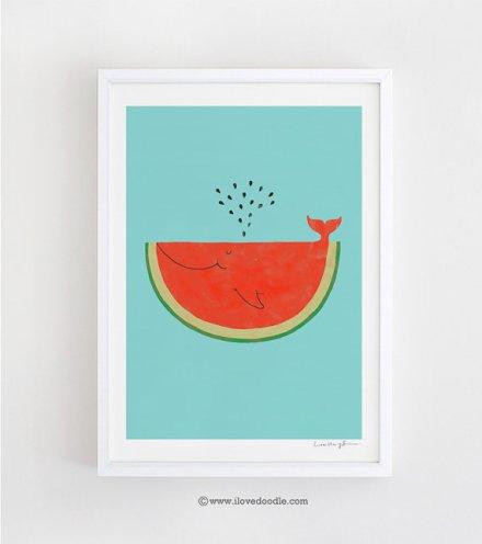 1. Melonenwalprint über Etsy