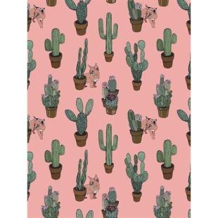 Tapete mit Kaktus-Muster
