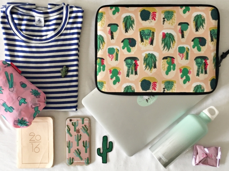 Still/ Flatlay: diverse Produkte mit Kaktus-Motiv oder Cactus-Print