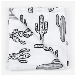 Kaktus-Muster: Mulltuch aus Biobaumwolle von Modern Burlap
