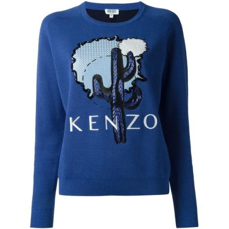 Pullover von Kenzo mit Kaktus-Stickerei