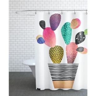 Duschvorhang von Junique mit Kaktus