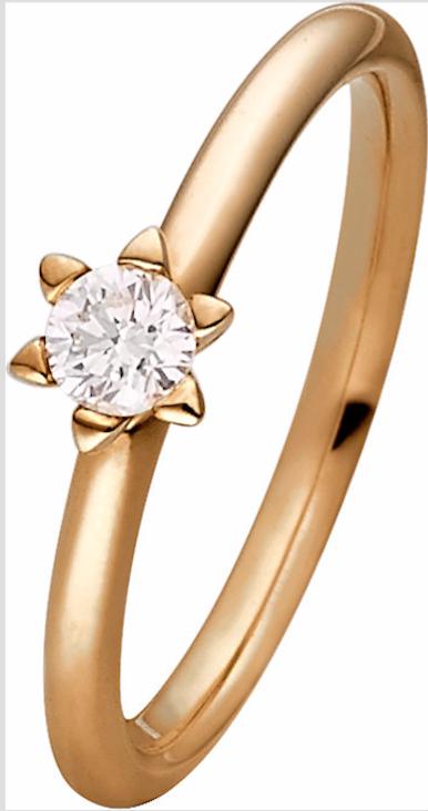 Klassischer Verlobungsring mit Diamant