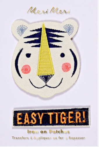 9. Patches im Tiger-Design
