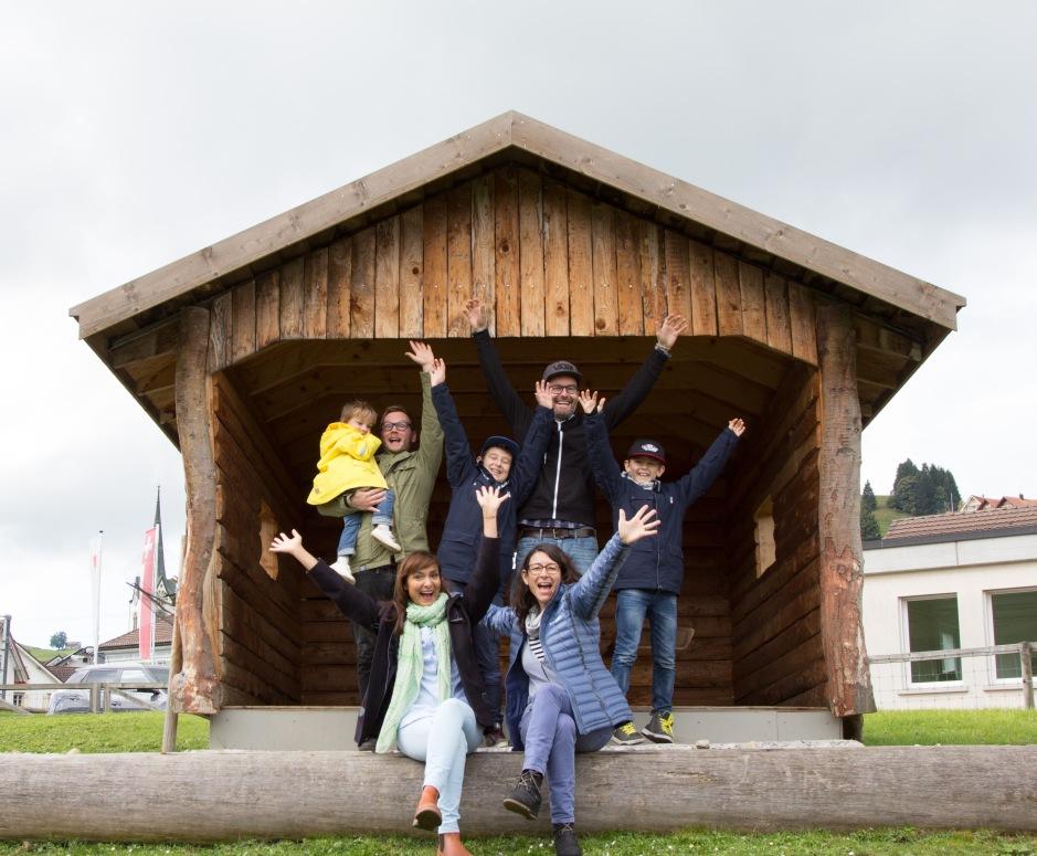 Zwei Bloggerfamilien im Reka Feriendorf Urnäsch
