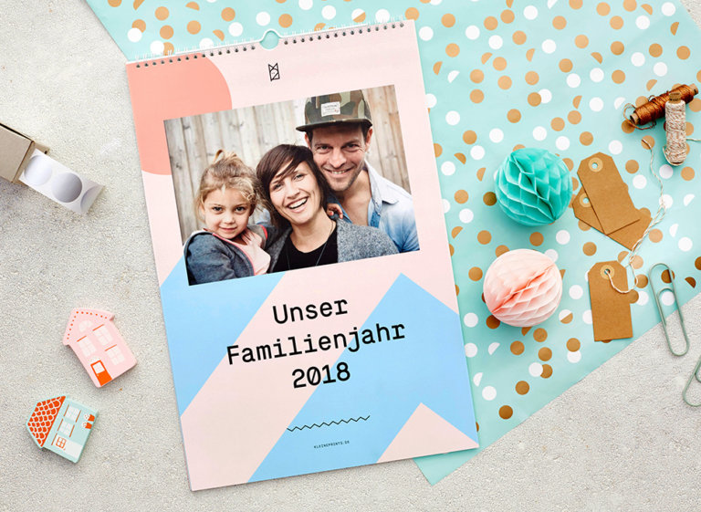 Kleine Prints: Familienkalender personalisierbar