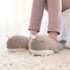 Geschenkidee von geschenke.de: heizbare Wal-Schuhe
