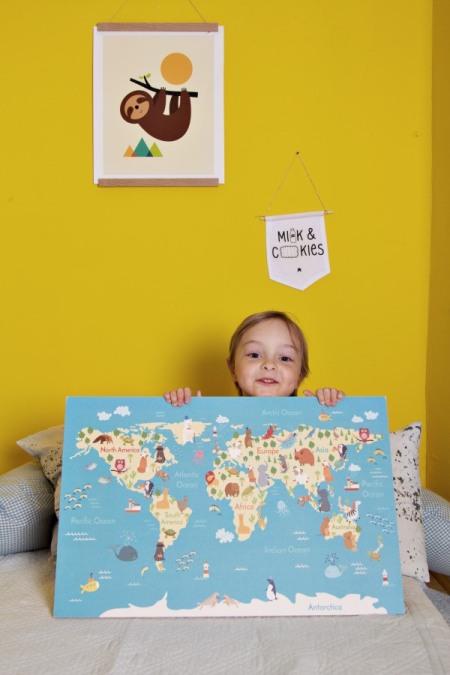 Land mit Kinder-Landkarte von landkarten.de