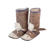 Hausschuhe Esel für Kinder von Woolenstocks