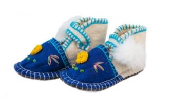 ausschuhe blau für Kinder von Woolenstocks