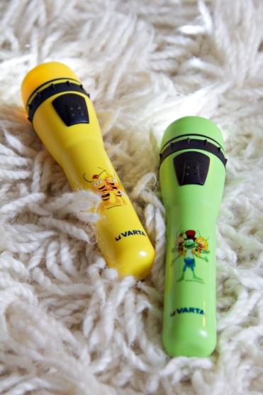 Taschenlampen von VARTA mit Biene Maja, Willi und Flip