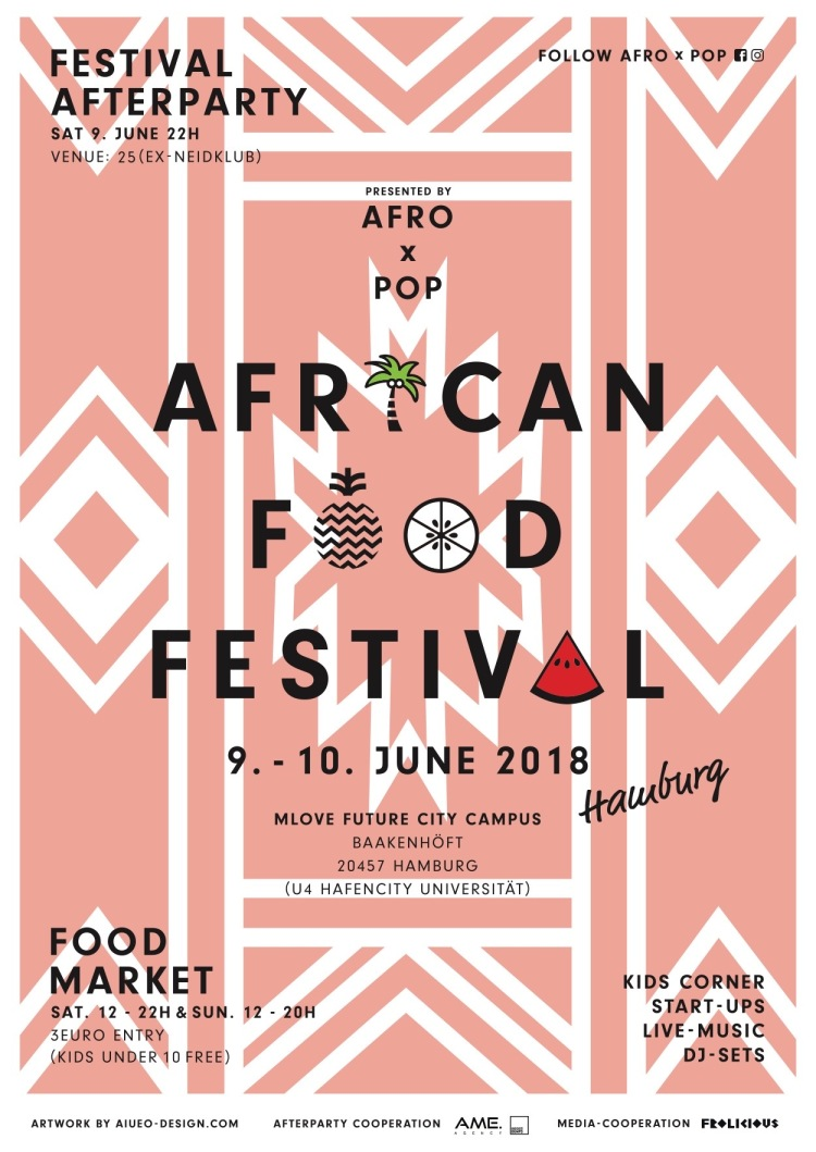 Veranstaltungstipp: African Food Festival in hamburg im Juni 2018 Plakat.