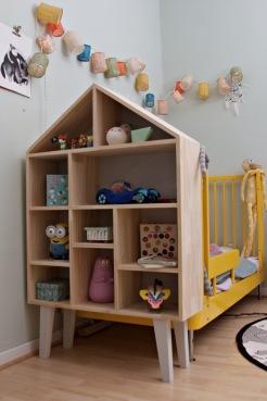 Kinderzimmer Makeover mit Wayfair: Spielzeugregal maus Holz mit diversen Fächern